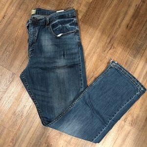 Men's wrangler slim straight flex fit